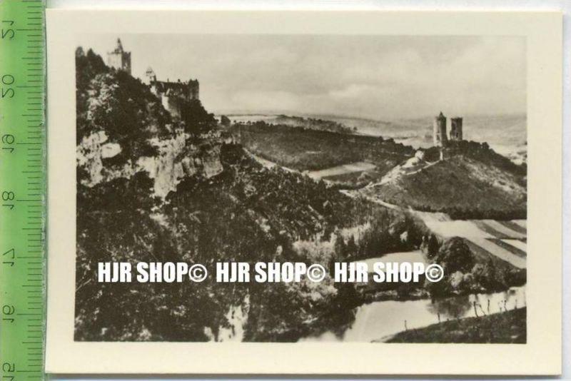 NAUMBURG /Saale). 1930/1940,  Sammelbild 9 x 6,5 cm,  Saale-Tal  Rudolsburg und Saaleck