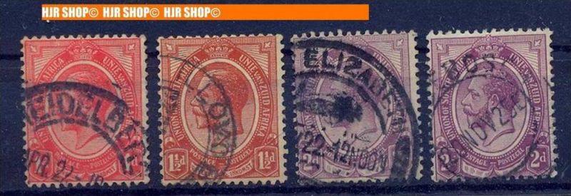 4 x Briefm. 1920/1930 Süd-Afrika, gest.