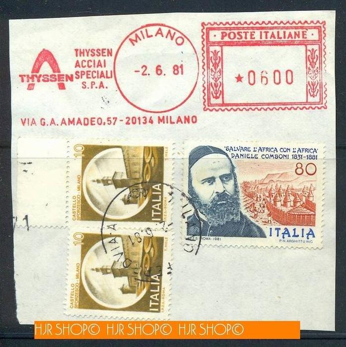 181,Briefstück mit Marken und Stempel