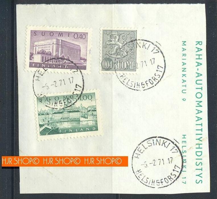 1971,Briefstück mit Marken und Stempel
