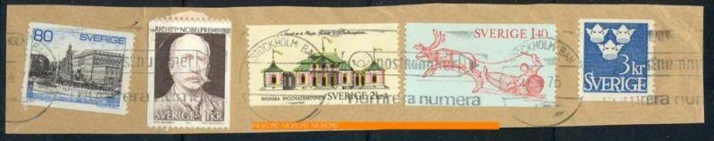 1975,Briefstück mit Marken und Stempel