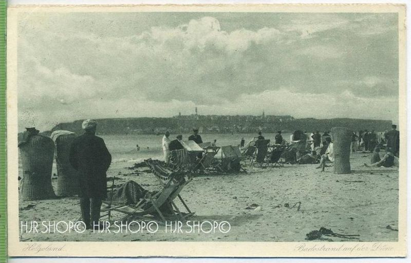 Helgoland, Badestrand auf der Düne um 1920/1930  Verlag: A.B. Kauffmann Nr.505 POSTKARTE ,  unbenutzte Karte