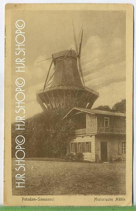 Potsdam-Sanssouci, Historische Mühle um 1910/1920  Verlag: K.H.B. 1505,  POSTKARTE ,  unbenutzte Karte , Rücks. Beschr.
