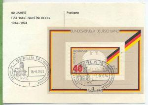 1974,  Minr.Block 10 Tagesstempel: Berlin 18.8.74 Zustand: I-II,  Brief wird in Klarsichthülle verschickt. (H)