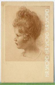 W. Schachinger, Kinderkopf-Rötelzeichnung, Nr.201 Verlag:  ---, POSTKARTE ,  unbenutzte Karte ,  Erhaltung: I-II Karte w