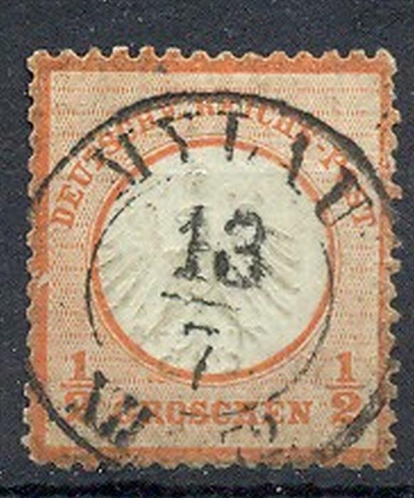 1872, MiNr. 3 Gest.  Zustand: I-II, (H)