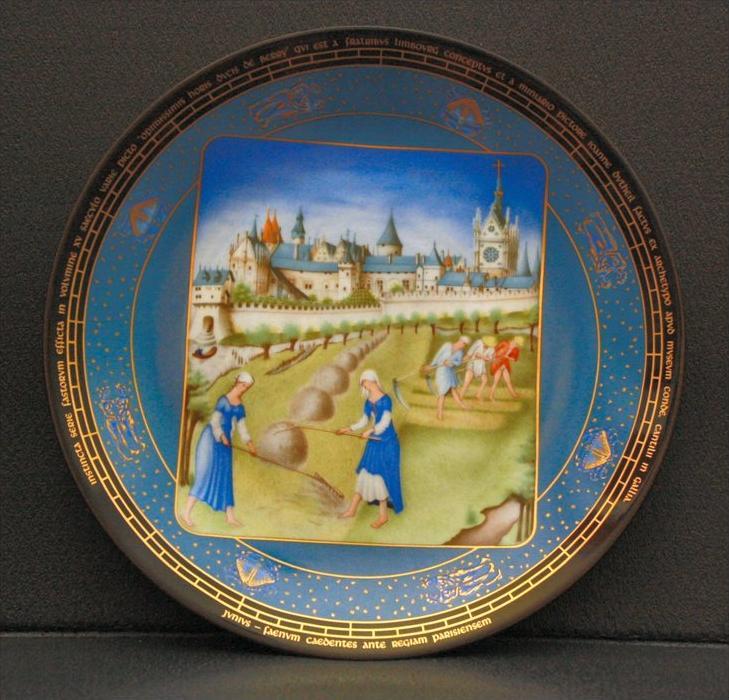Sammelteller, Frankreich, D`Arceau-Limoges Die überreichen Stunden des Jean Duc de Berry Künstler: Jean Dutheil Porzella