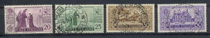 Italien,1931, MiNr.362,363,364,365,  Gest. Zustand: I-II