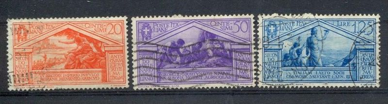 Italien,1930, MiNr.346,349,351,Gest. Zustand: I-II 0