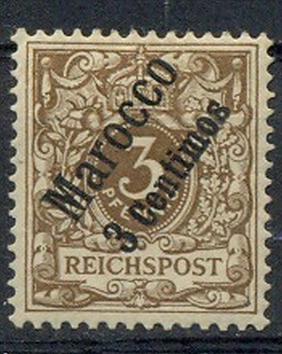 1899,Freimarke 3 Pf mit Bedr.-Aufdruck MiNr. 1*    Zustand: I-II