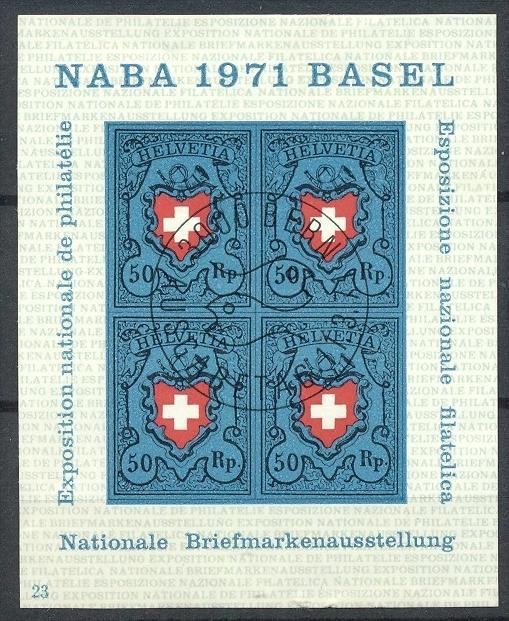 1971,BL.  21 Gest.,  Gummierung leicht besch.   Zustand: I-II