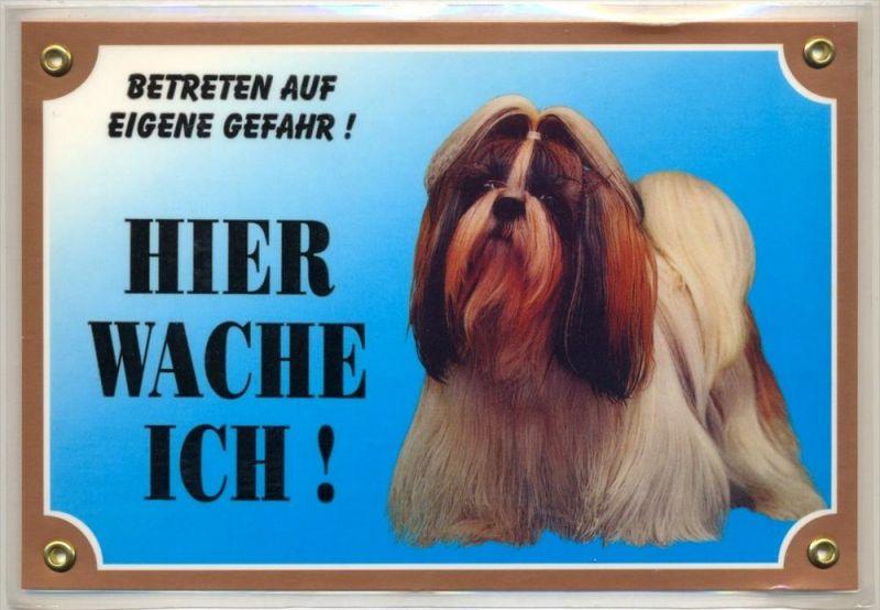 Hunde – Warnschilder SHI TZU 21 x 14,5 cm, laminiert Zustand: Neu