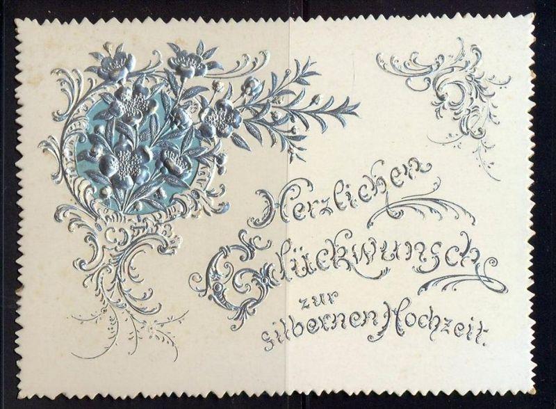 Herzlichen Glückwunsch zur silbernen Hochzeit  Maße: 11,5 x 8,5 cm Erhaltung: I-II, Karte wird in Klarsichthülle verschi