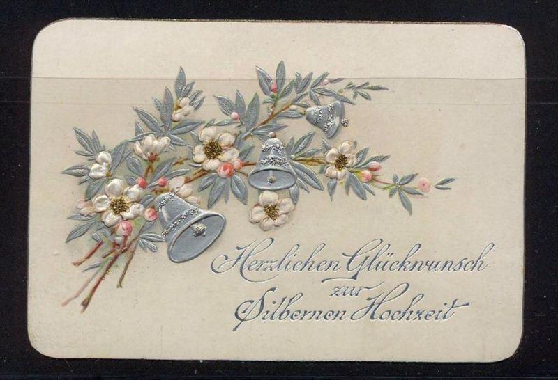 Herzlichen Glückwunsch zur silbernen Hochzeit  Maße: 10,5 x 7,2 cm Erhaltung: I-II, Karte wird in Klarsichthülle verschi