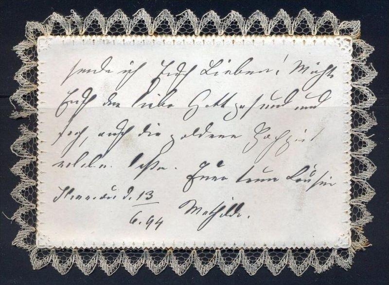 15 Juni 1894 Herzlichen Glückwunsch Zur Silbernen Hochzeit Mit Stoff