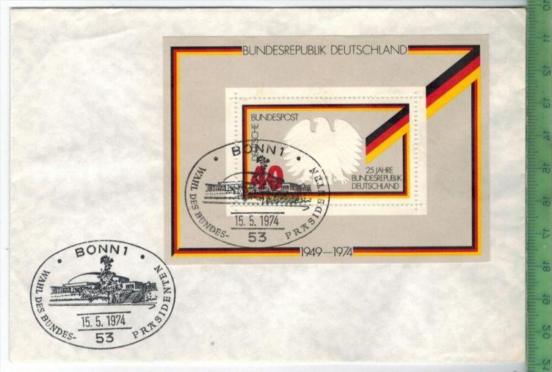 1974, FDC, Block Minr. 10  Zustand: I-II