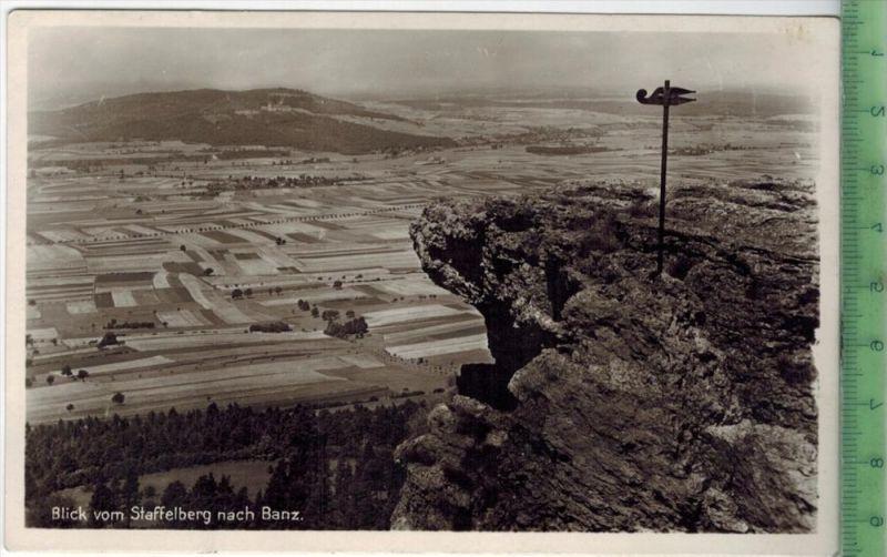 Blick vom Staffelberg nach Banz Verlag: Richard Zieschank, Rudolstadt/Thür., POSTKARTE Rückseite: 27.28.6.29  Sängerfahr