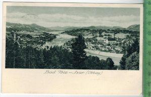 Bad Tölz - Isar Verlag: Max Lerpscher,  Postkarte mit Frankatur  und Stempel, BAD TÖLZ 21. Aug. 1927 MIT BEFÖRDERUNGSSPU