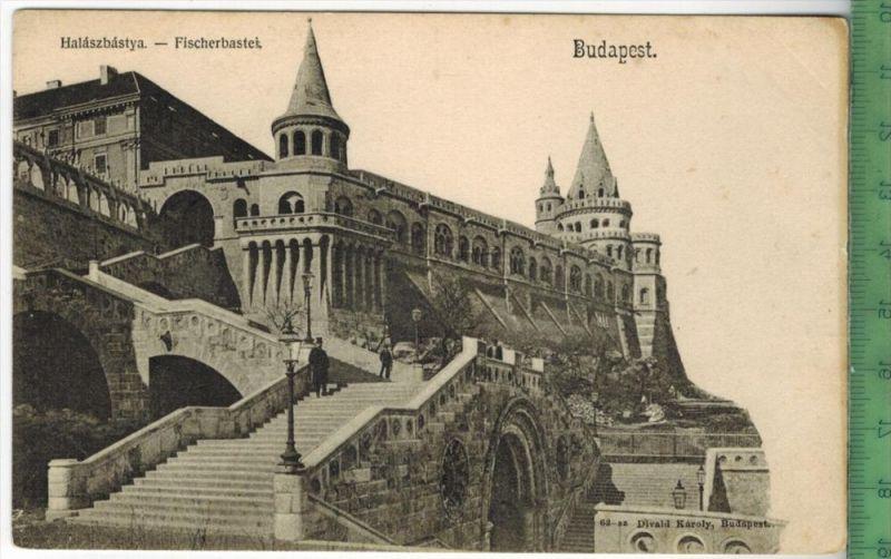 Budapest, Fischerbastei 900/1910Verlag:------ ------ , PostkarteErhaltung: I-II, Unbenutzt Karte wird in Klarsichthülle