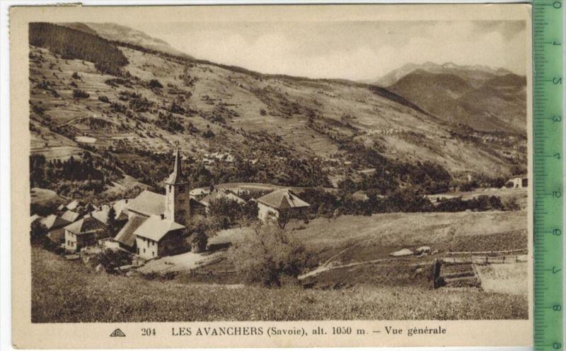 Les Avanchers-Vue gènèrale 1910/1920Verlag:A. Moquet, le Raincy,  Postkartemit Frankatur  mit  Stempel, MIT BEFÖRDERUNGS