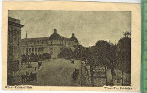 Wilna—Kathedral Platz, 1916Verlag:-------,FELD- POSTKARTEohne Frankatur  mit Stempel, 7.2.16Soldatenbrief Fuhrpark