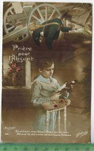 Gebet für den Vater, 1915Verlag: ----, Feld - Postkartemit Stempel, 17.10.15Erhaltung: I-II Karte wird in Klarsichthülle