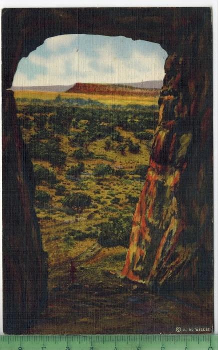 Kit Carson`s Cave , 1949Verlag: ---------, POST KARTEmit Frankatur  mit Stempel,  GALLUP 18. Apr. 1949Erhaltung: I-II, K
