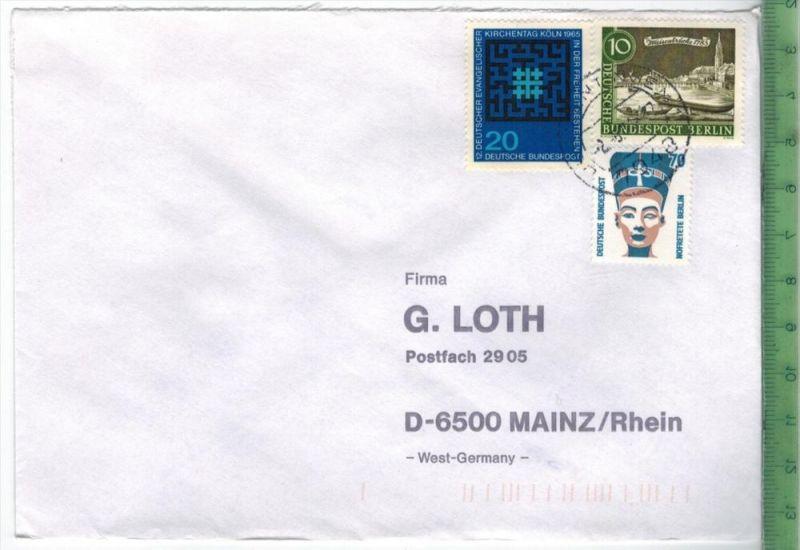Berlin, West, MiNr. 814, 219, Brd Minr.480,  MiF, auf Brief,Brief gelaufen, 2.5.----, unleserlich gestempeltGröße: 15 x