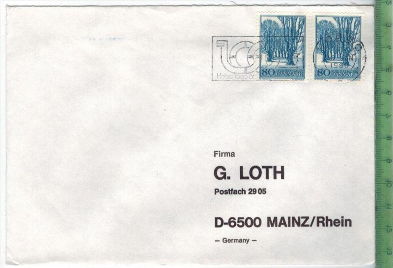 1980, Dänemark MeF, auf Brief, Brief gelaufen, 19.3.80 gestempeltGröße: 16 x 11,5 cmZustand: I-II (H)Wir haben ständig a