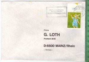 1990, Schweiz, EF, auf Brief, Brief gelaufen, 18.2.90 gestempeltGröße: 16 x 11,5 cmZustand: I-II (H)Wir haben ständig al