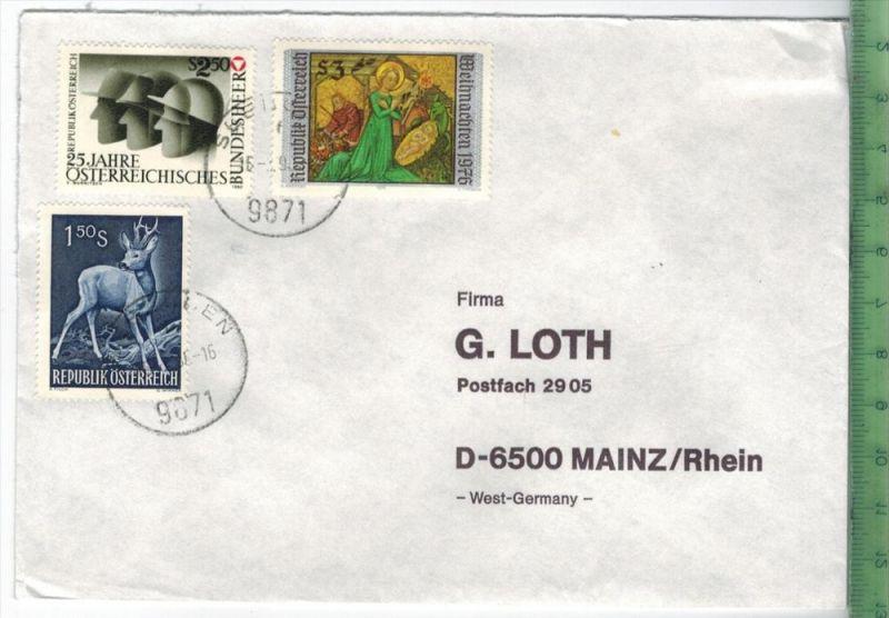 1990, Österreich, MiF, auf Brief, Brief gelaufen, 18.3.90 gestempeltGröße: 16 x 11,5 cmZustand: I-II (H)Wir haben ständi