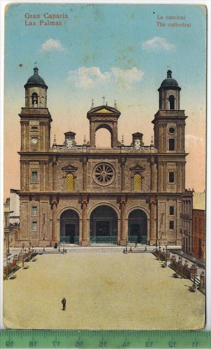 Gran canaria La catedralVerlag: PostkarteErhaltung: I-II, unbenutzt, Karte wird in Klarsichthülle verschickt.(H)Wir habe