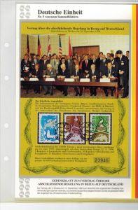 Deutsche Einheit, Nr. 5.Gedenkblatt zum Vertrag über die Abschliessende Regelung in Bezug auf Deutschland, aus Abo.In or