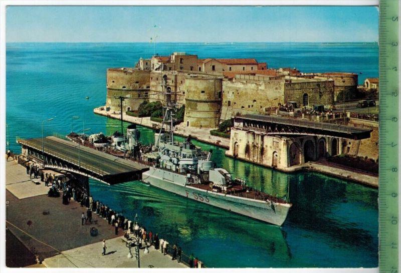 Taranto, offene drehbare Brücke mit ZerstörerVerlag: POST KARTEErhaltung: I-II, unbenutzt, Karte wird in Klarsichthülle