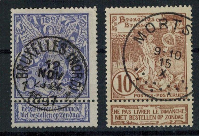 Belgien 1896, MiNr. 64+64,(o) 5 C+10 CSauber gest. Zustand: Gut