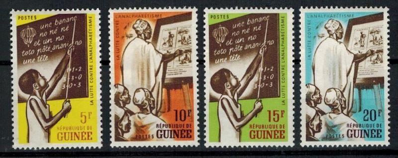 Guinee, La lutte Contre L`Analphabetisme–, 4 Stk ** Zustand: Gut