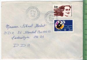 Frankreich 1983, MiF, 2 x Stempel , MOUGON 11.4.1983Zustand: Gut