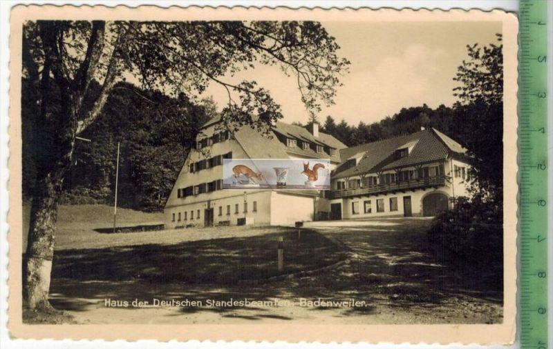Haus der Deutschen Standesbeamten, BadenweilerVerlag : Albrecht Bodenweiler, POSTKARTEErhaltung: I-II, unbenutztKarte wi