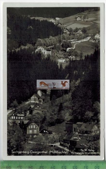 Sachsenberg- Georgenthal -  1937 -Verlag: Kurt Jobst, Brunndöbra,   Postkarte,mit Frankatur, mit Stempel SACHSENBERG-GEO
