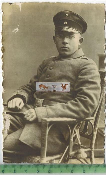 Soldat I. Weltkrieg -Verlag: ,   POSTKARTEKarte mit FleckenErhaltung: I-II, UnbenutztKarte wird in Klarsichthülle versch