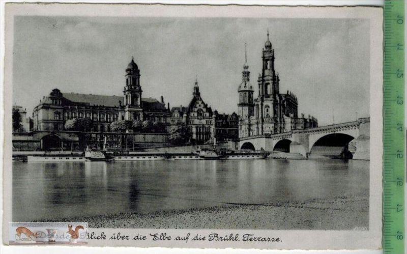 Dresden, Blick über die Elbe auf die Brühl. Terrasse - 1931Verlag: ----------,   POSTKARTEbesch. Frankatur, mit Stempel