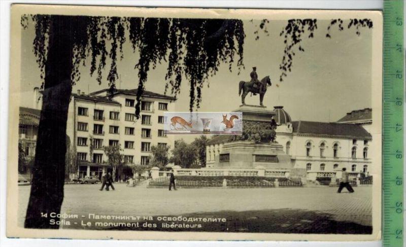Sofia - 1960Verlag:---------,   POSTKARTEohne Frankatur, mit Stempel    Erhaltung: I-II, Karte wird in Klarsichthülle ve