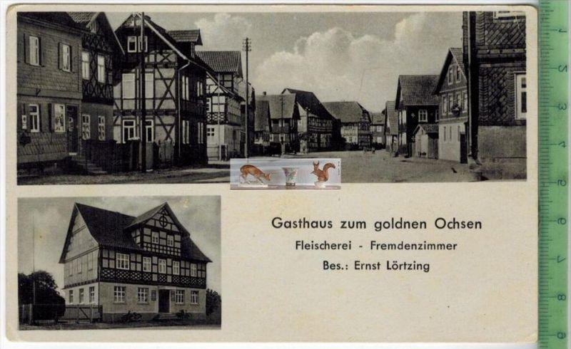 STREUFDORF; GASTHAUS ZUM GOLDNEN OCHSENVerlag: A. Hofmeister, Heldburg,   POSTKARTERückseite beschriebenErhaltung: I-II,