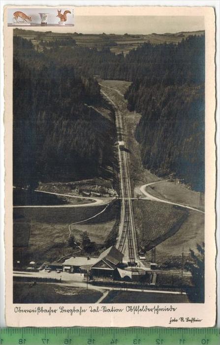 Oberweißbacher BergbahnVerlag: Rudolf Bechstein, Sitzendorf,     POSTKARTEErhaltung: I-II, UnbenutztKarte wird in Klarsi