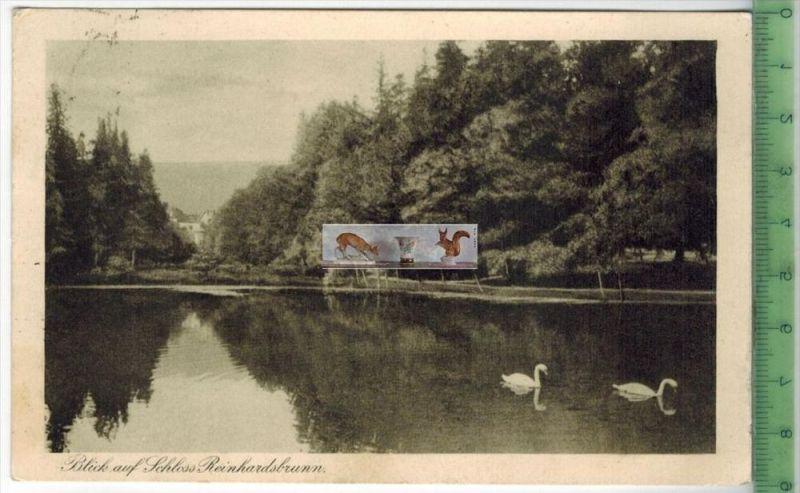 Blick auf Schloss Reinhardsbrunn - 1926Verlag: Georg Krautwurst, Friedrichroda,   POSTKARTEmit Frankatur, mit Stempel FR