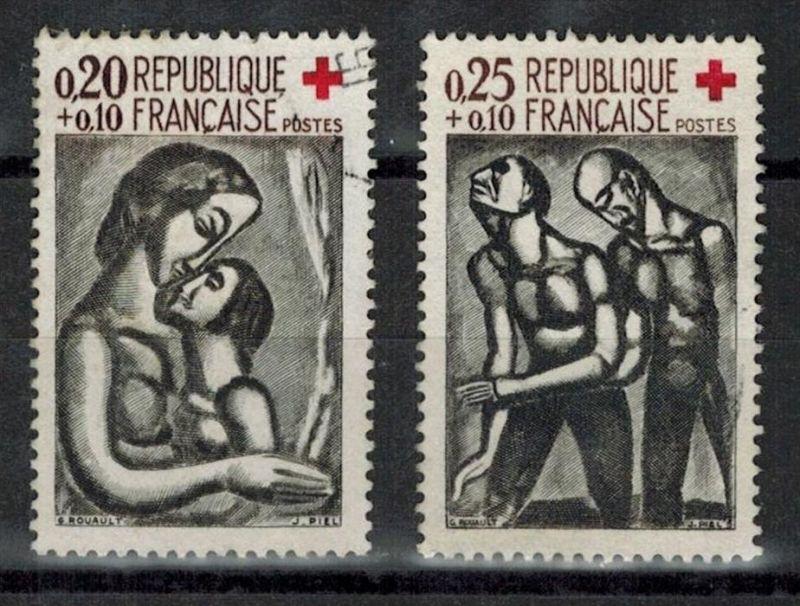 Frankreich 1961, Minr. 1376+1377 o, Satz 2 W, Zustand. Gut