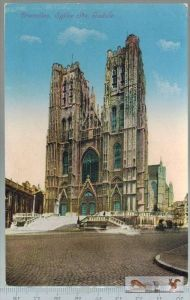 Bruxelles eglise Ste. Gudule-1916- Verlag: H.P., Brux., FELD- POSTKARTEohne Frankatur, ohne Stempel, 14.12.16  Erhaltung