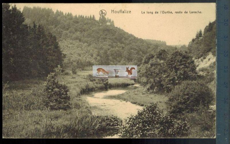 Houffalize, Le long de I`qurthe, route de Laroche-1915- Verlag: Ern. Thill, Brux., FELD- POSTKARTEohne Frankatur, mit St