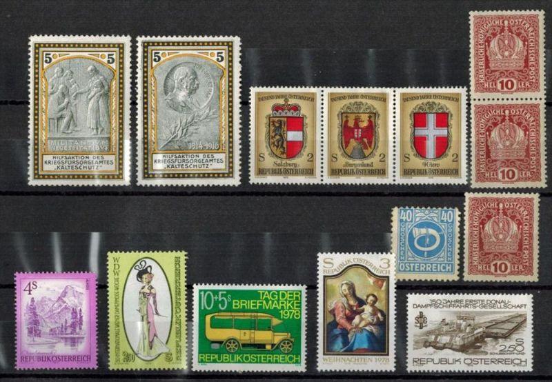 14 x Österreich Briefmarken**,  Zustand. Gut