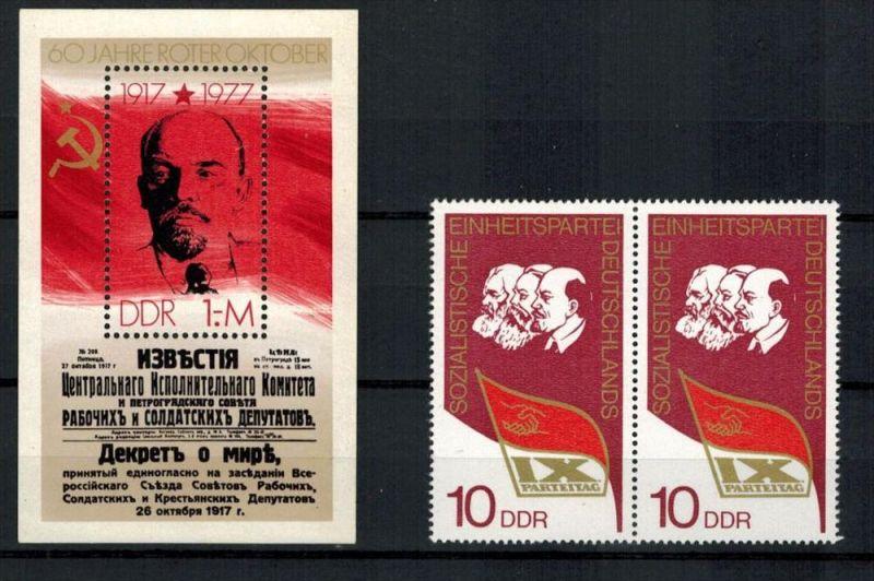 DDR 1977, Minr. Block 50**--1976 Paar,  Minr. 2123**Zustand: Gut